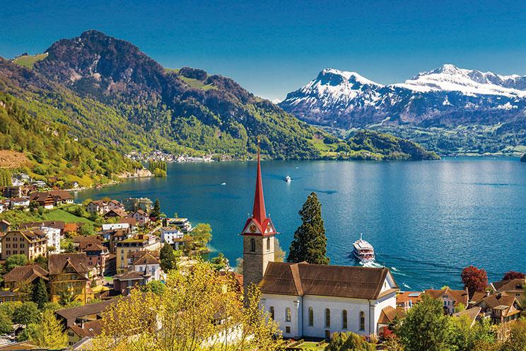 Imagem E4127-Alpes y Danubio con Italia Imperial